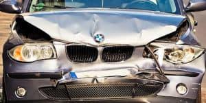 Damaged new car