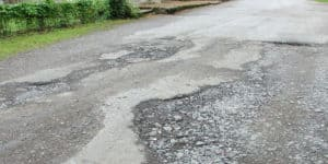 Rural residents suffering worse with potholes