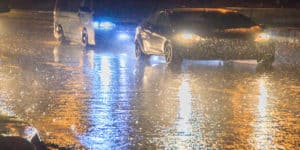 Storms and heavy rain mean 'motorists must take extra care'